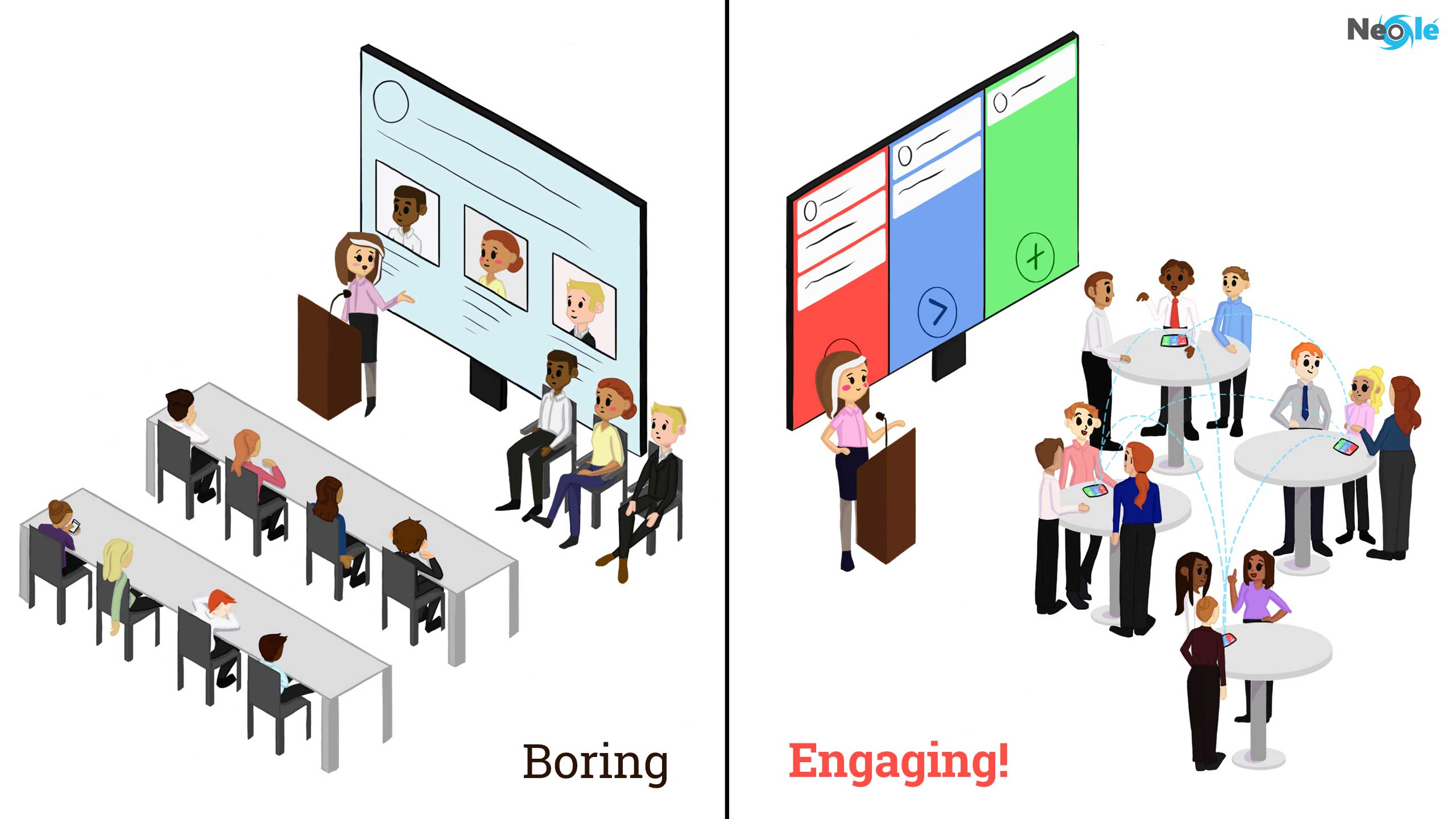 Boring vs engaging